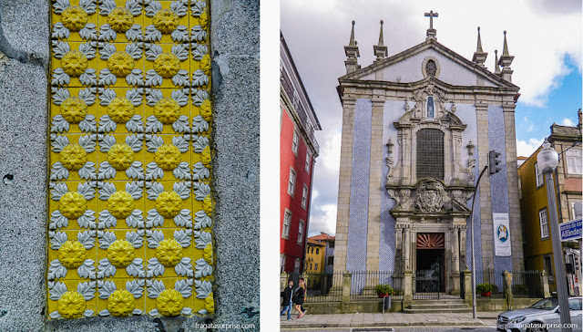 Azulejos nas fachadas da Cidade do Porto, Portugal