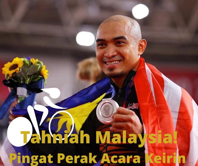 Tahniah Malaysia! Pingat Perak Acara Berbasikal (Keirin) Lelaki | Winichelen Wongkin