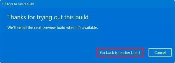 عودة نظام التشغيل Windows 11 إلى خيار الإنشاء السابق