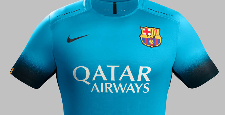 The new Nike FC Barcelona 15-16 Home Kit features horizontal stripes for  the first time in the club history. The new Barcelona 2015-2016 Third Kit  was ... b1032afbe