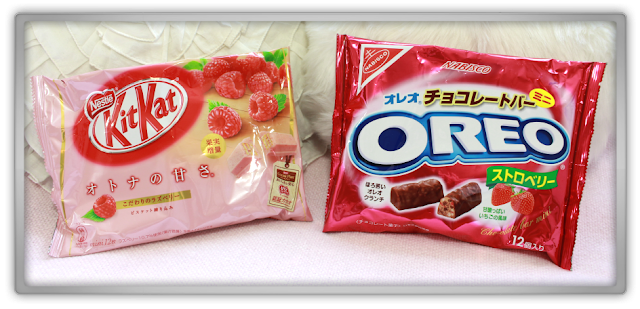 Candysan Japanese Candy Haul Review kit kat mintia pocky oreo pretz rilakkuma raspberry strawberry lemon taste test try japan