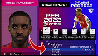 Download PES 2022 PPSSPP Hair 2K Real Face English Commentary & Full Promotion Clubs And New Transfer
