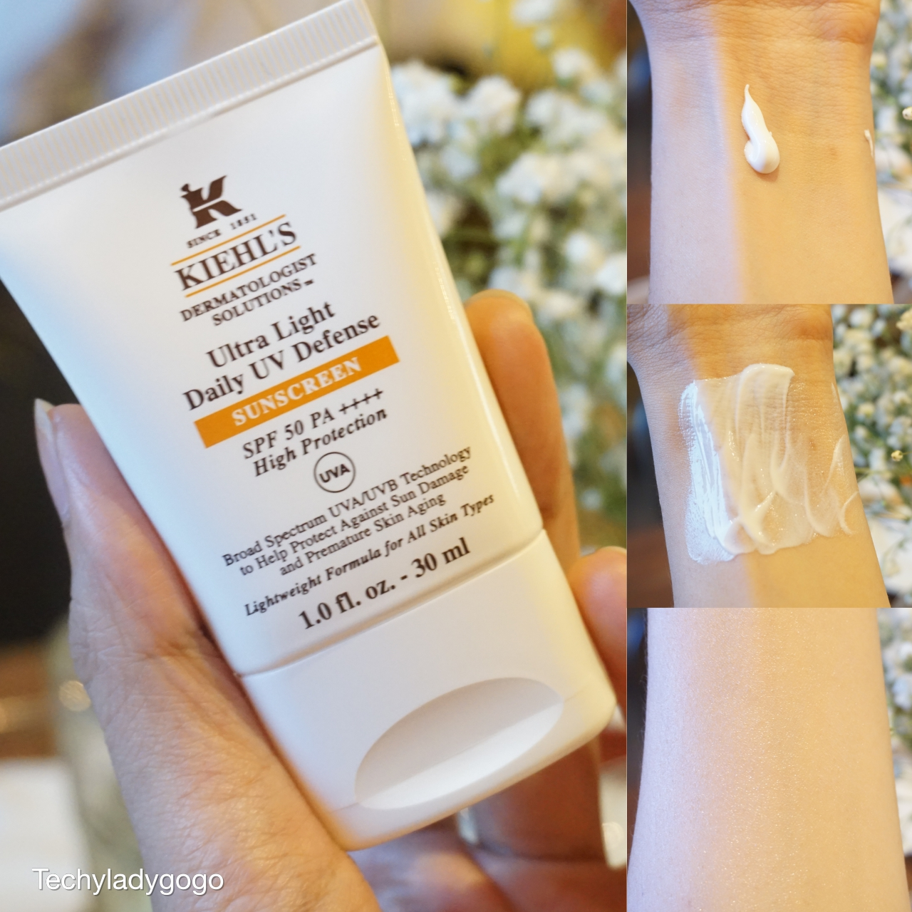 Kiehl's Ultra Light Daily UV Defense SUNSCREEN SPF50 PA++++ (30ml 1,450 บาท)