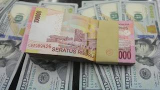 Kurs mata uang Rupiah terhadap dolar AS
