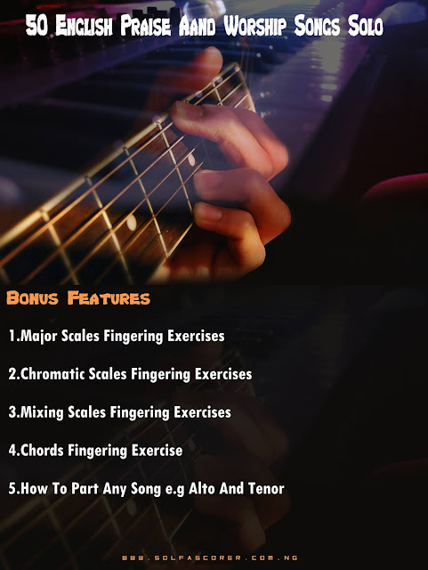 Ebook: 50 English Praise And Worship Songs Solo + 5 Musical Hacks.
