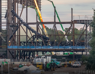 First Track Piece Installed at Guardians of the Galaxy, EPCOT