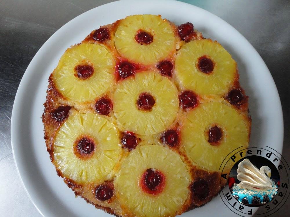 Gâteau à l'ananas renversé