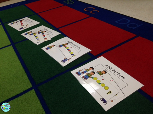 hands on patterning centers for first grade