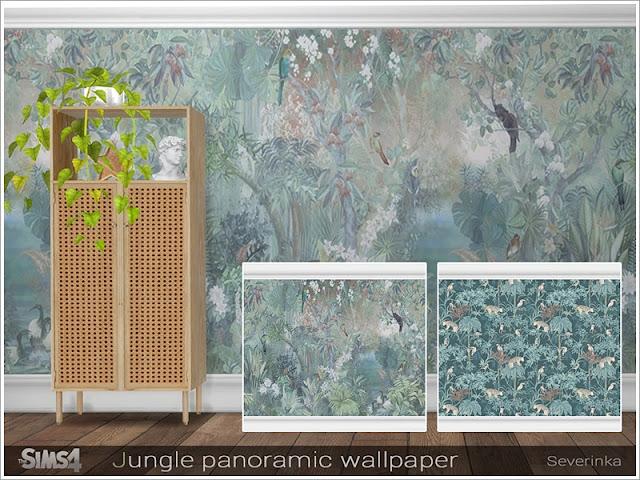 Jungle panoramic wallpaper Джунгли панорамные обои для The Sims 4 Панорамные обои Джунгли. Два вида изображений. Для любой высоты стены. Обои являются сплошными, не состоят из разных частей, поэтому вам не нужно подбирать последовательность и устанавливать по частям. Картинка составляется автоматически! Автор: Severinka_