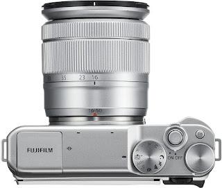Fujifilm X-A10, вид сверху