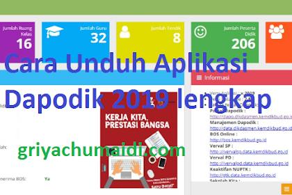 Cara Download Aplikasi Dapodik 2019.C Versi Terbaru Lengkap dengan link alternatif jika kesulitan