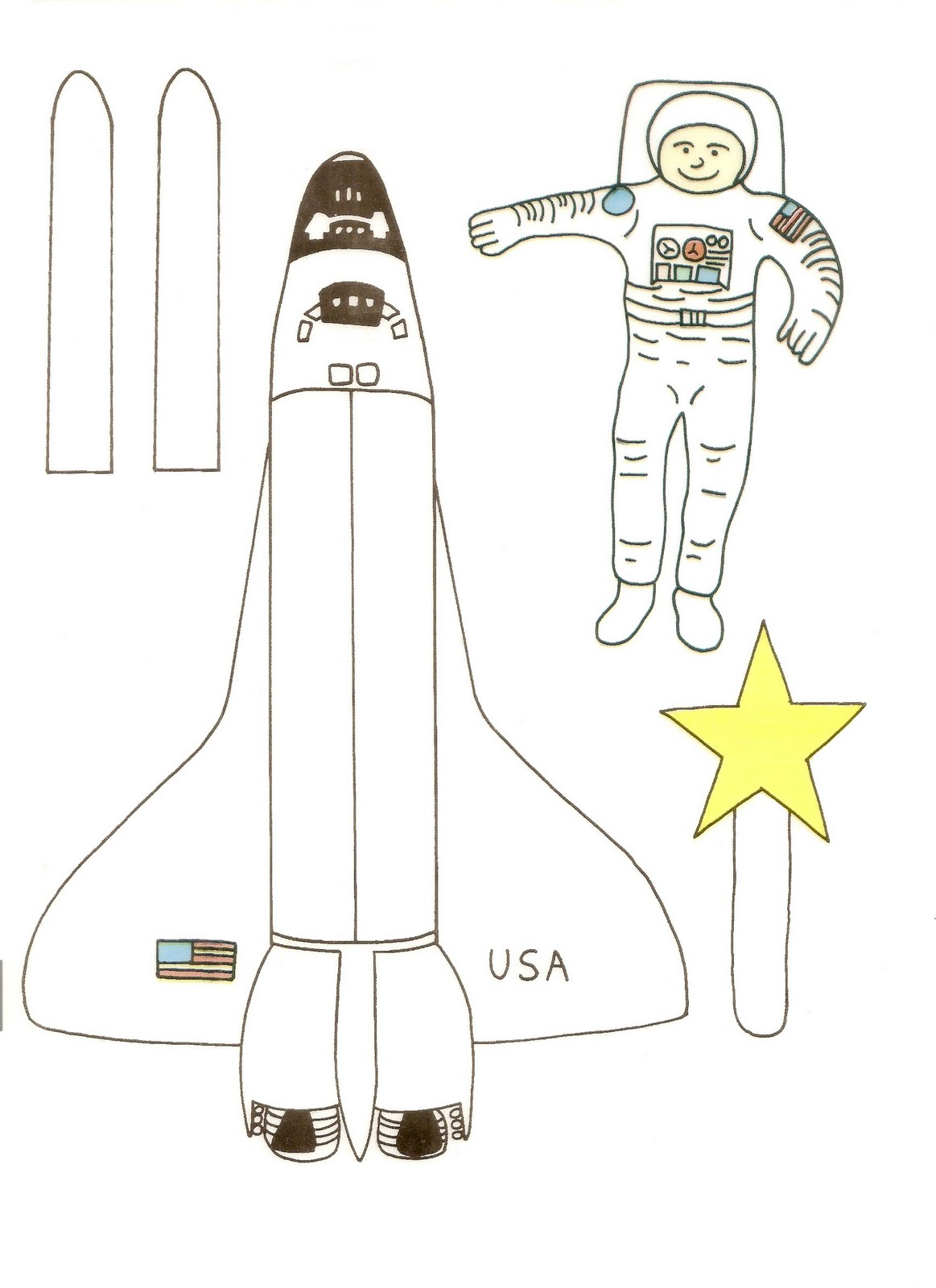 space shuttle paper patterns - photo #2
