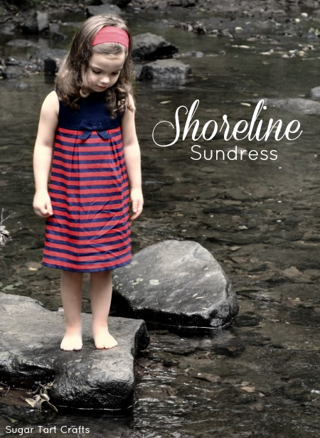 The Shoreline Sundress: a Lily Pulitzer knock-off by Sugar Tart Crafts