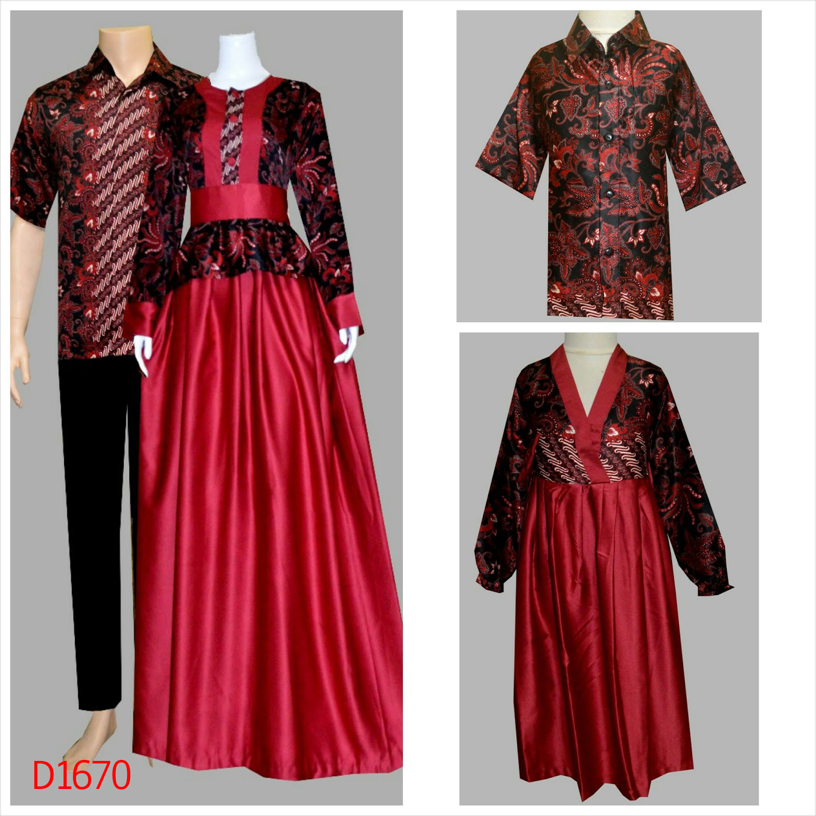 Gamis Batik Modern Untuk Anak Muda - Nusagates
