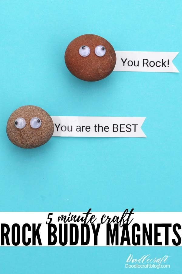 "Make Rock Pet Magnets for Locker Organization as a ""back to school"" 5-minute craft DIY"