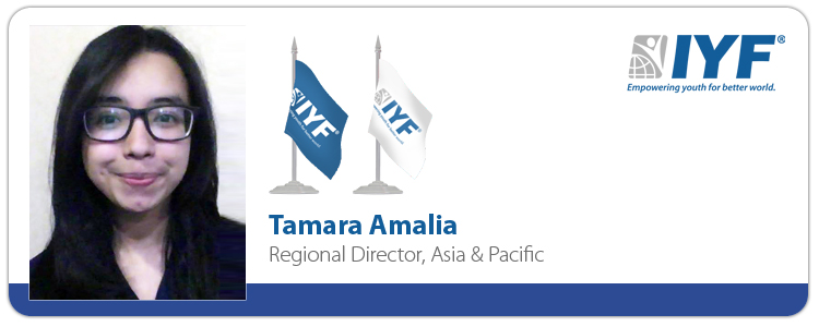 Tamara Amalia, IYF Regional Director for Asia & Pacific