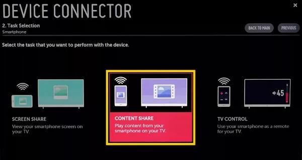 cara menghubungkan hp ke tv led lg