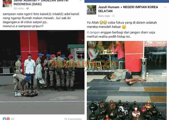Kasian Bener...! Berniat Posting Dimedsos Untuk Mendapat Simpati, Kakek Ini Justru Digaruk Satpol PP