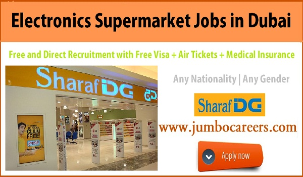 UAE super market jobs with free visa and air ticket, Dubai Supermarket job with salary and benefits,