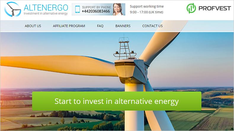 Altenergo обзор и отзывы вклад 450$