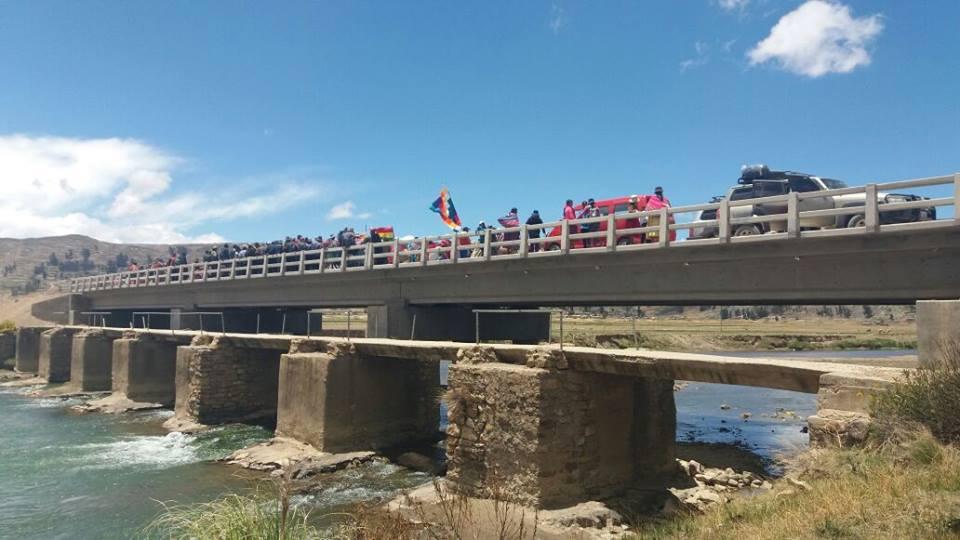 Puente de Querapi en Escoma tiene una longitud de 61.86 metros