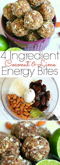 4 Ingredient Coconut Lime Energy Bites