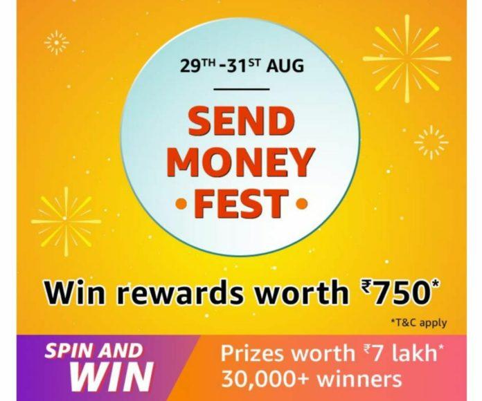 [4 All] Amazon Send Money Fest – Get ₹750 Cashback FREE