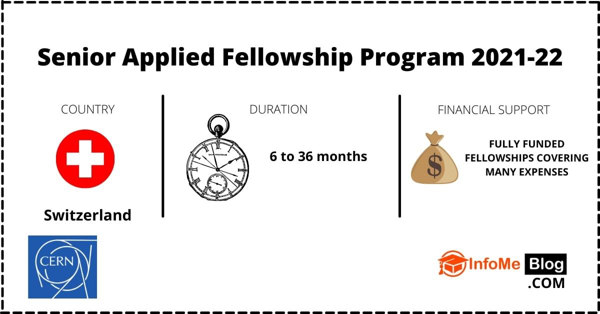 Bourse entièrement financé:Senior Applied Fellowship Program en Suisse