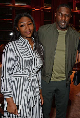 Idris Elba Parties With His Daughter And Fiancee