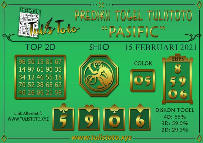 Prediksi Togel PASIFIC TULISTOTO 15 FEBRUARI 2021