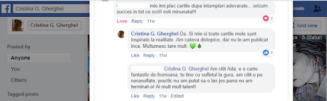 Apel umanitar: Citește Ada de Cristina G. pentru Mirabela #ajutorpentrumirabela