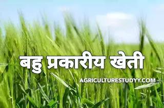 बहु प्रकारीय खेती या विविध (सामान्य) कृषि किसे कहते है इसके लाभ एवं दोष, diversified farming in hindi, भारत में बहु प्रकारीय खेती का महत्व एवं विकास