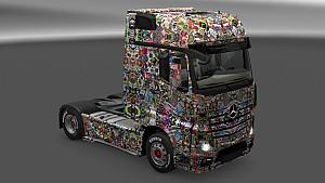 Sticker Bomb Deluxe Skin Pack for All Trucks