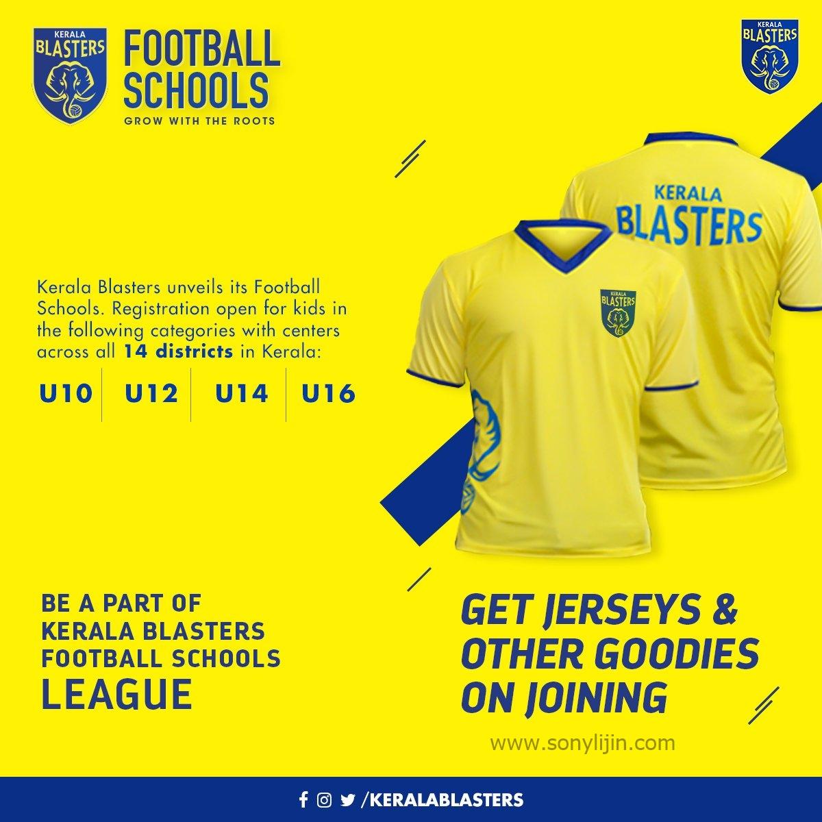 Kerala Blasters Football schools online registration form