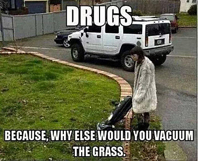 Vacuum the grass