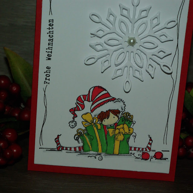 [DIY] Weihnachtskarte Kleiner Elf bringt Geschenke