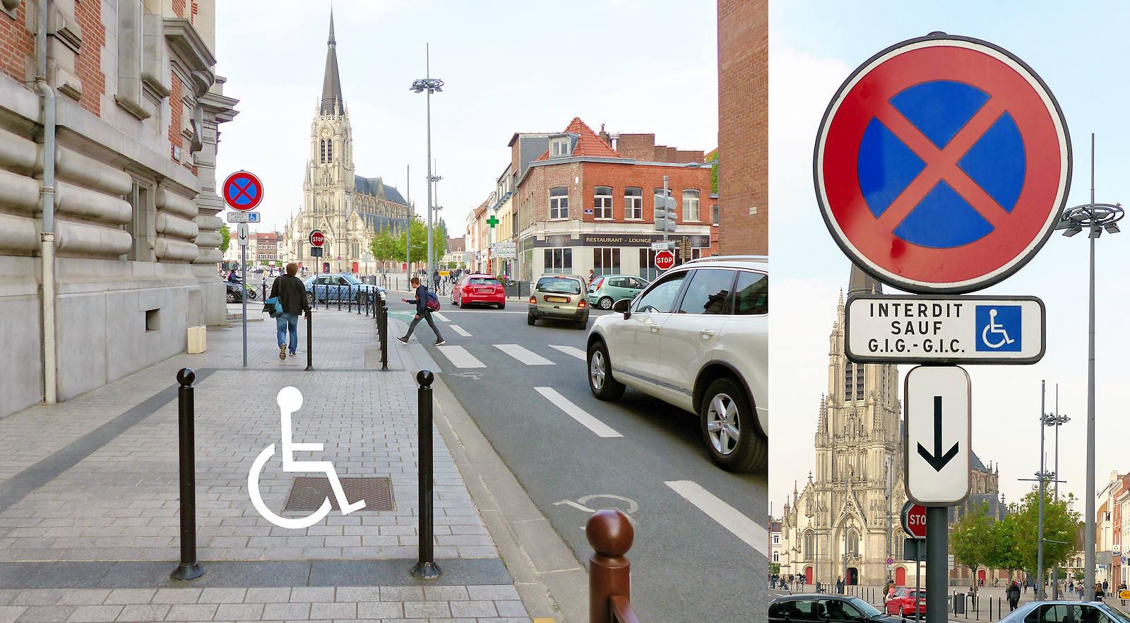 Rue des anges, Tourcoing - Place stationnement PMR
