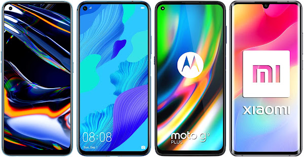Realme 7 Pro vs Huawei Nova 5T vs Motorola Moto G9 Plus vs Xiaomi Mi Note 10 Lite