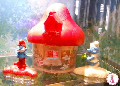 Happy Meal Smurfs деревня с домиками и фигурками