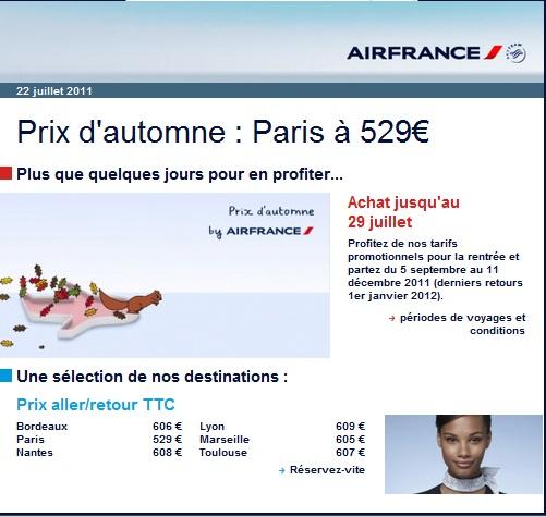 voyages d part antilles vers paris 529 promo air france air bons plans. Black Bedroom Furniture Sets. Home Design Ideas
