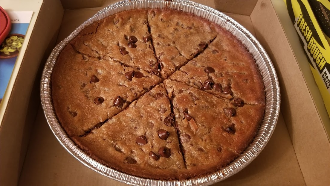 Cookie pizza from Hungry Howie's