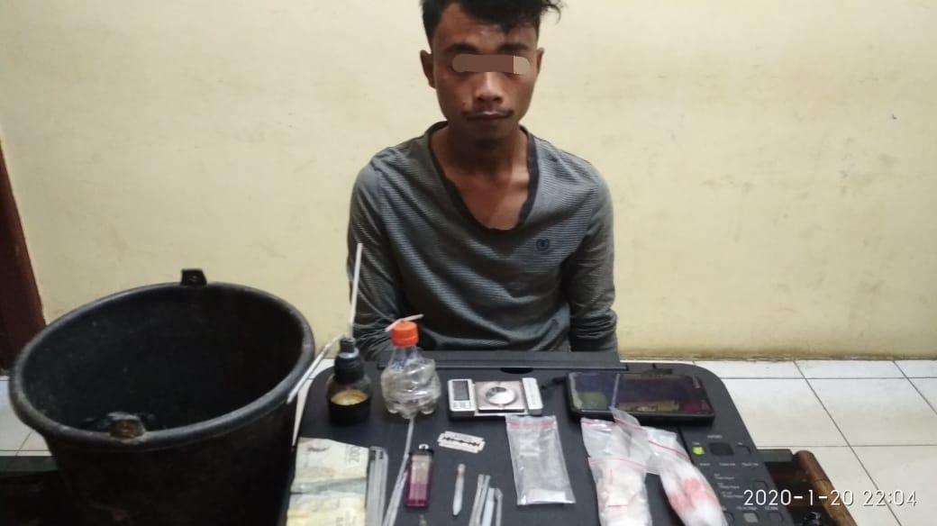 Menguasai Narkotika, Warga Bukit Petaling Inhu Ditangkap Polisi