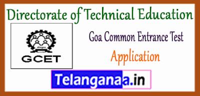 GCET Goa Common Entrance Test 2019 Application