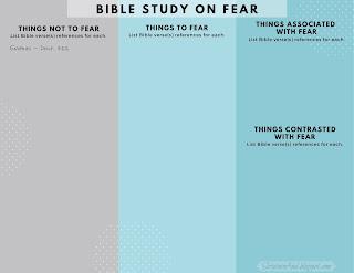 Free, printable Bible Study on Fear | Scriptureand.blogspot.com