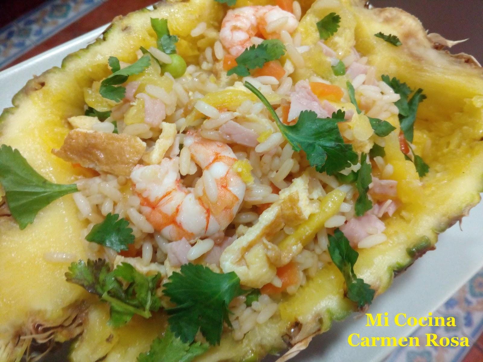 Mi cocina arroz jazmin con pi a y langostinos for Cocinas integrales buen fin