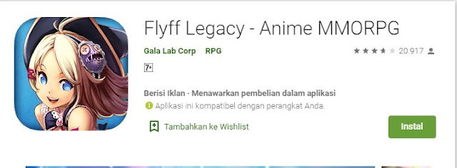 Game MMORPG Android FlyFF Legacy