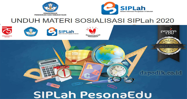 UNDUH MATERI SOSIALISASI SIPLah 2020 SIPLah Pesona Edukasi