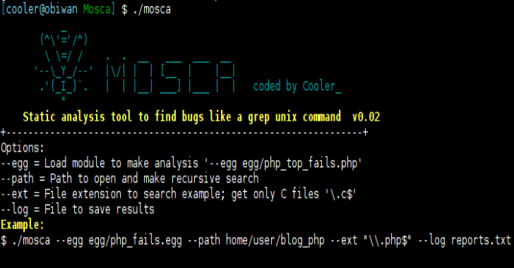 Mosca : Manual Search Tool To Find Bugs Like A Grep Unix Command
