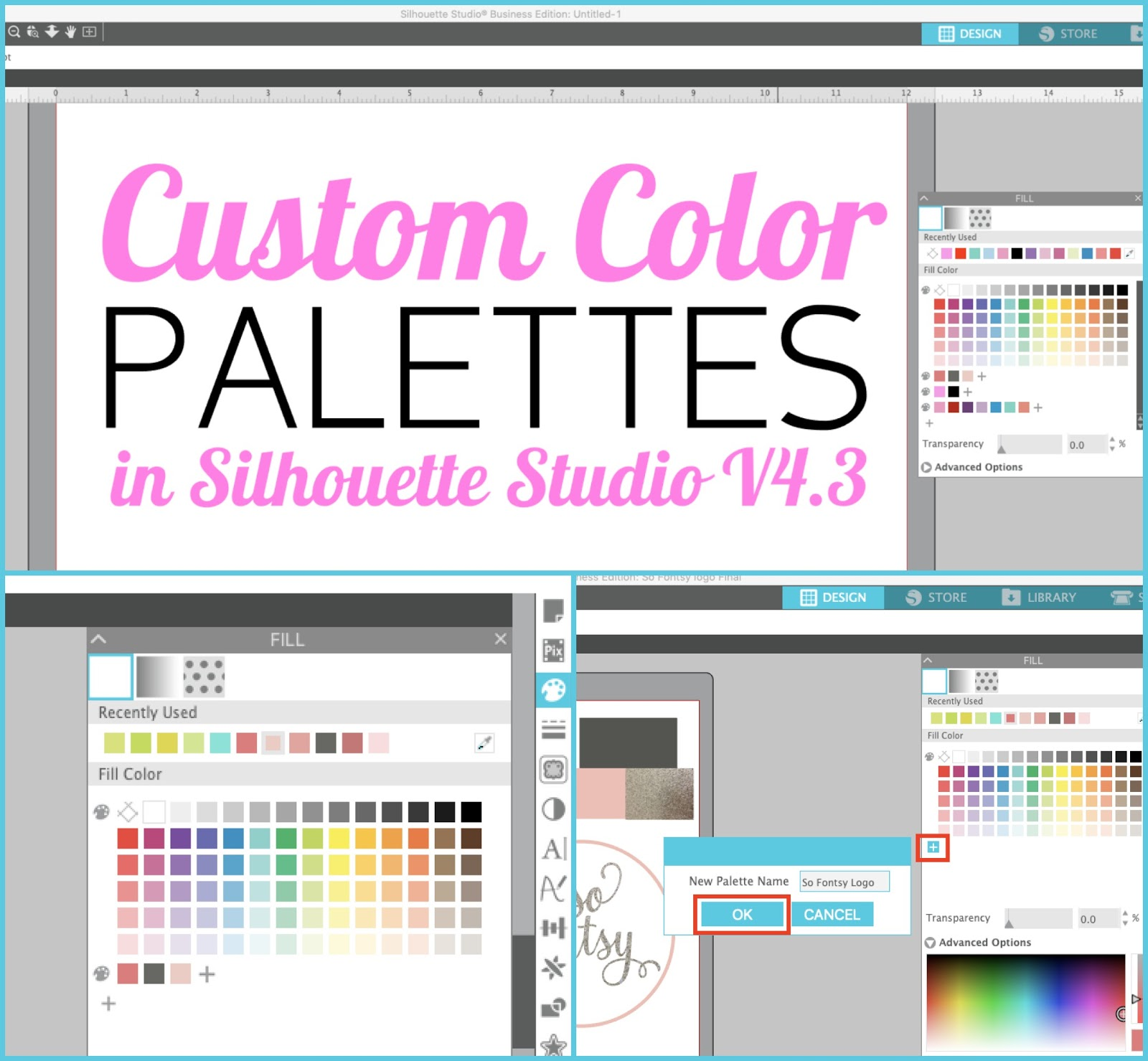 How To Create And Save Custom Color Palettes In Silhouette