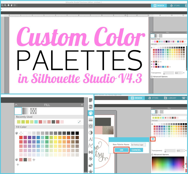 silhouette 101, silhouette america blog, custom color, color palettes, color fill
